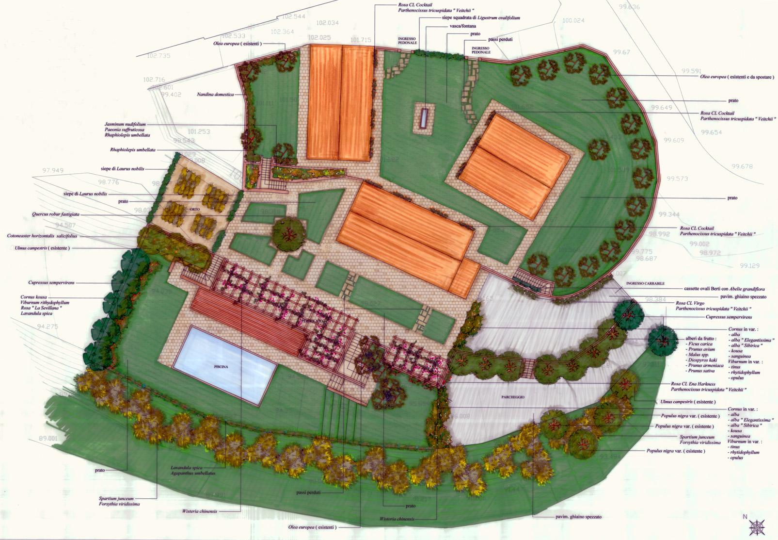 Giardino privato stefania lorenzini architetto e garden designer - Progetto giardino privato ...